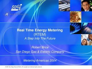 Real Time Energy Metering (RTEM)
