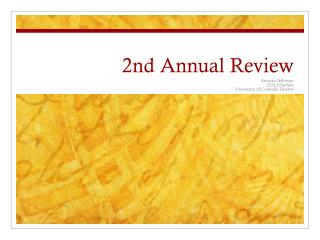 2nd Annual Review