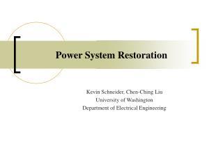 Power System Restoration