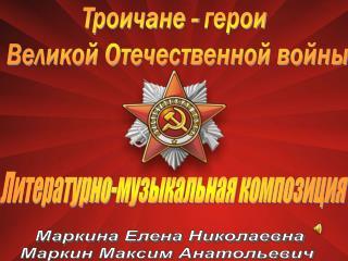 Троичане - герои  Великой Отечественной войны