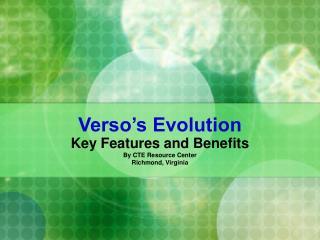 Verso's Evolution