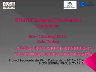 Social inclusion techniques in vocational education training