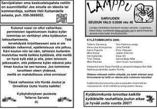 SARVIJOEN  SEUDUN VALO 5/2006 vko 48
