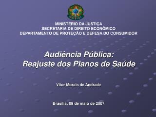 MINISTÉRIO DA JUSTIÇA SECRETARIA DE DIREITO ECONÔMICO