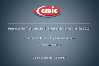 Proyecto de Presupuesto de Egresos de la Federación 2012