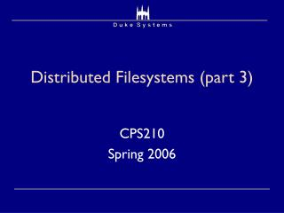 Distributed Filesystems (part 3)