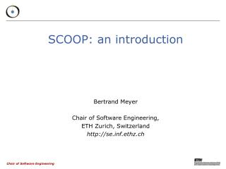 SCOOP: an introduction