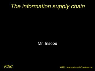 The information supply chain