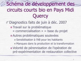 Schéma de développement des circuits courts bio en Pays Midi Quercy
