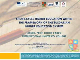 ATLANTIS Programme EU-US Cooperation in Higher Education and Training  Policy Oriented Measure