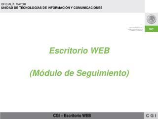 Escritorio WEB