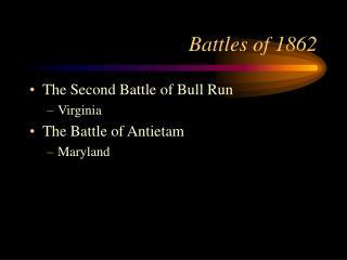 Battles of 1862