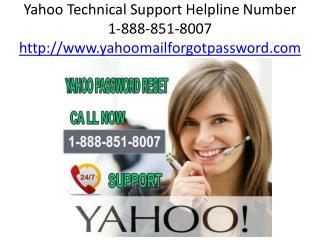 Yahoo Support Number 1-888-851-8007 Helpline Toll Free