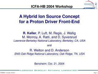 A Hybrid Ion Source Concept for a Proton Driver Front-End