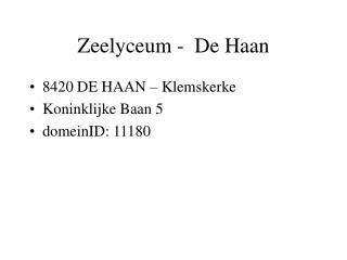 Zeelyceum -  De Haan