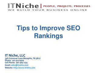 Tips to Improve SEO Rankings
