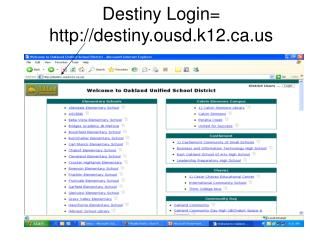 Destiny Login= destiny.ousd.k12