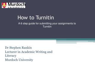 How to  Turnitin