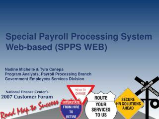 Special Payroll Processing System Web-based (SPPS WEB)