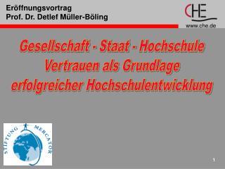 Eröffnungsvortrag Prof. Dr. Detlef Müller-Böling