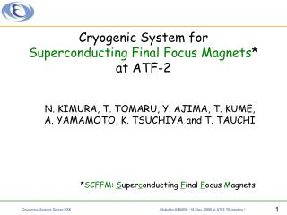 Cryogenic System for  Superconducting Final Focus Magnets *  at ATF-2