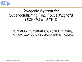 Cryogenic System for  Superconducting Final Focus Magnets  (SCFFM) at ATF-2