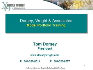 Dorsey, Wright  Associates Model Portfolio Training