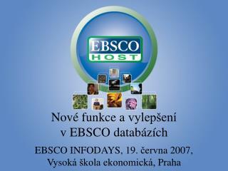 Nov é  funkce a  vylepšení                                v  EBSCO datab ázích