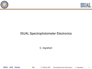 ISUAL Spectrophotometer Electronics