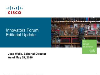Innovators Forum Editorial Update