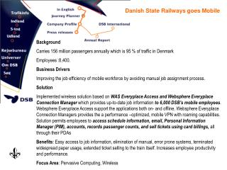 Danish State Railways goes Mobile