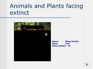 Animals and Plants facing extinct