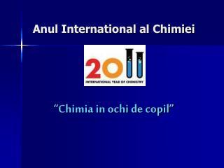 """""""Chimia in ochi de copil"""""""