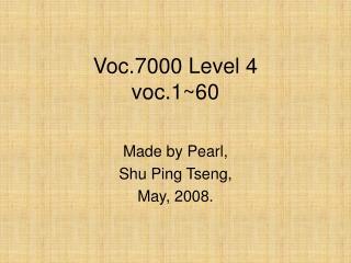 Voc.7000 Level 4 voc.1~60