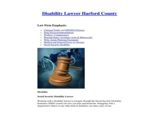 Disability Lawyer Harford County