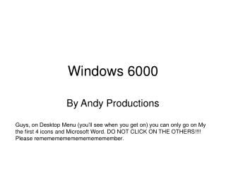 Windows 6000