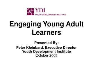 Engaging Young Adult Learners