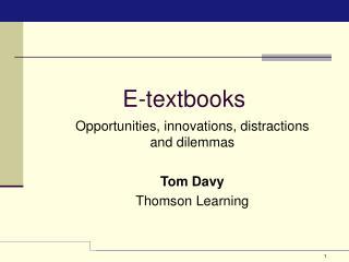 E-textbooks