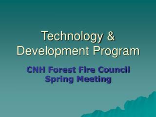 Technology  Development Program