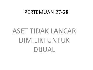 PERTEMUAN 27-28
