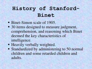 History of Stanford-Binet