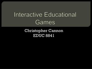 Interactive Educational Games