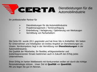 Ihr professioneller Partner für Dienstleistungen für die Automobilindustrie