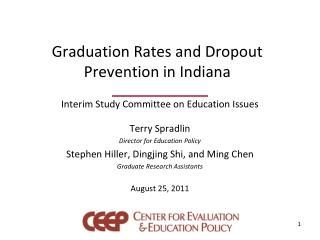 Graduation Rates and Dropout Prevention in Indiana
