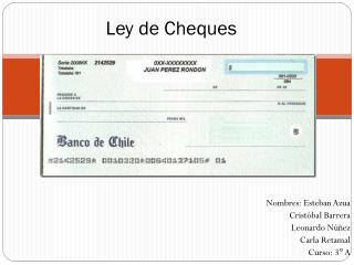 Ley de Cheques
