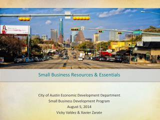 Small Business Resources & Essentials
