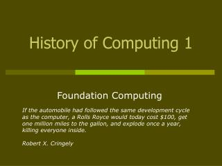 History of Computing 1