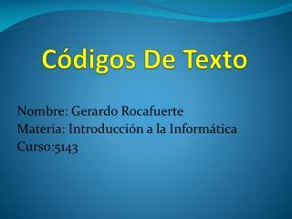 Códigos De Texto