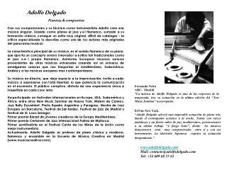 Adolfo Delgado Pianista & compositor