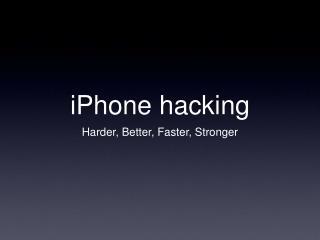 iPhone hacking